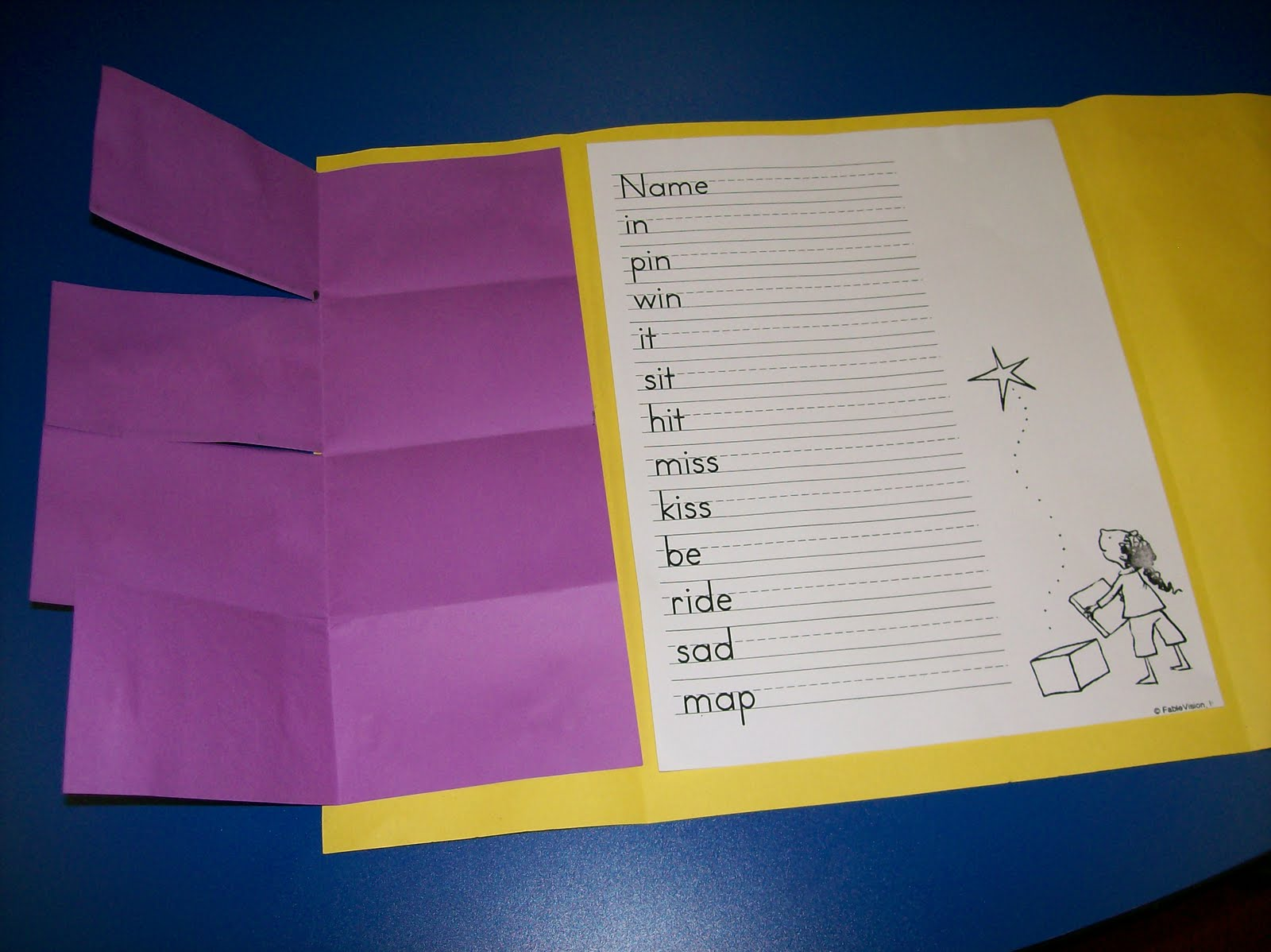 ... section. We practice writing the words and assembling the words