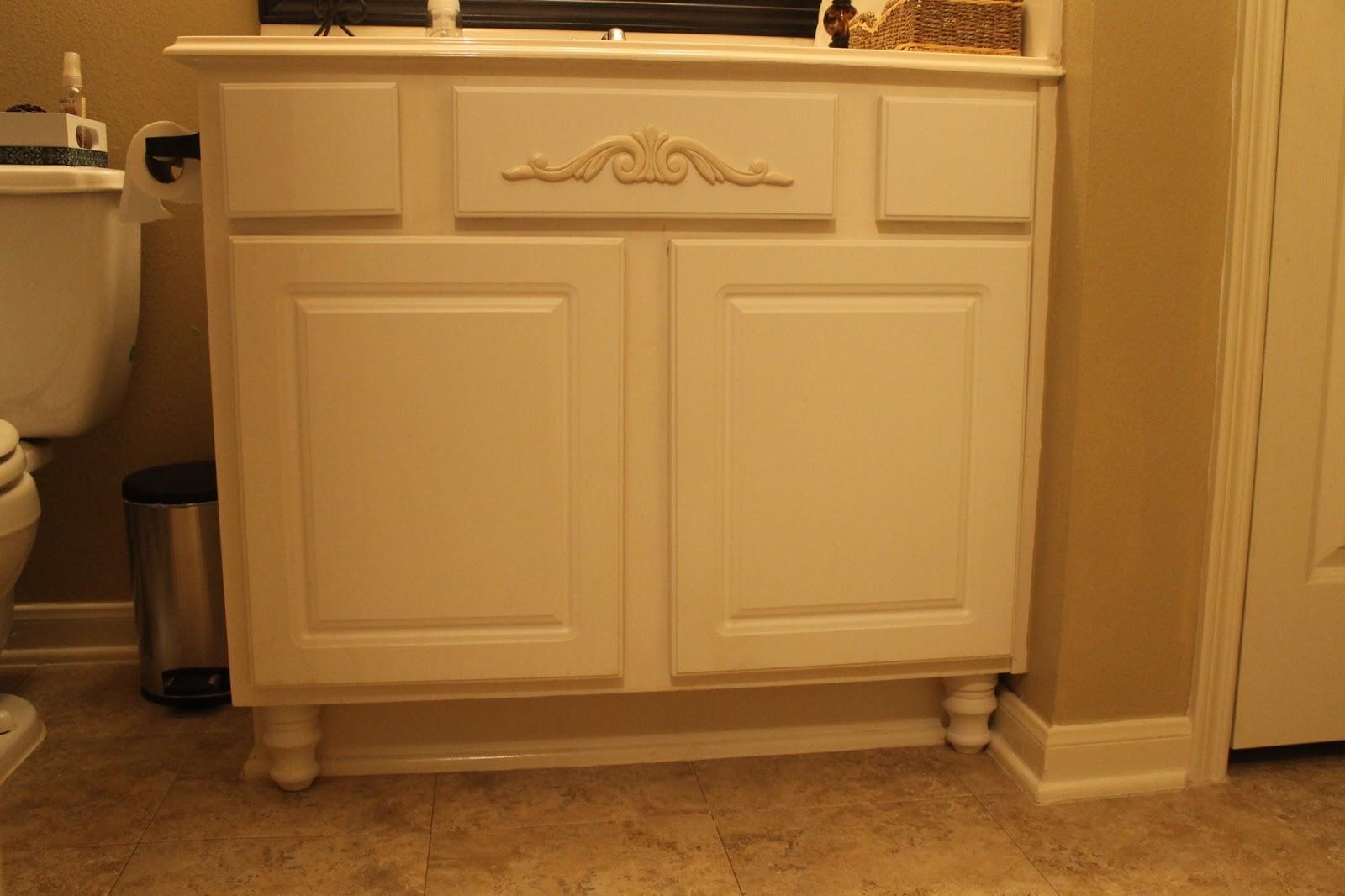 Texas Decor Adding Furniture Legs To Bathroom Vanity