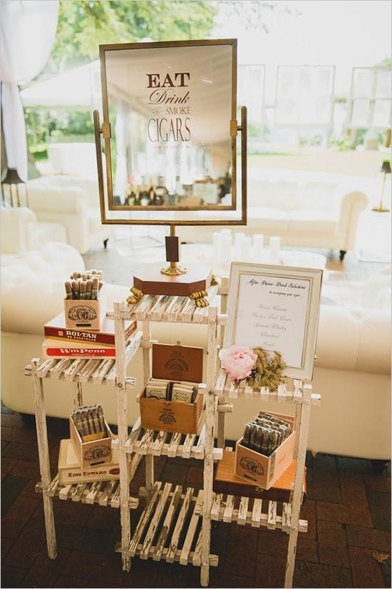 Cigar bar en tu boda