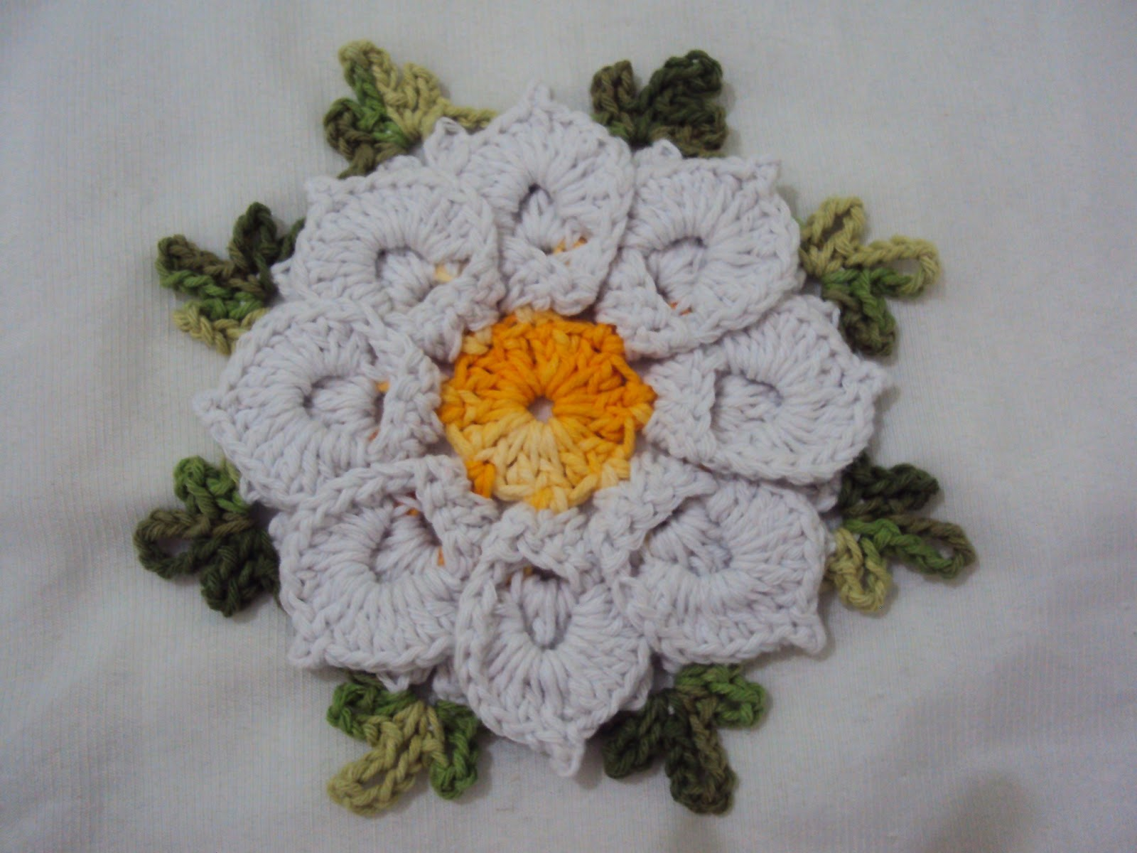 Video Description  CROCHE AULA FLOR MARGARIDA EM CROCHE PARTE 1 By