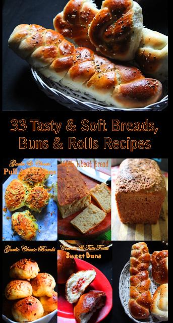 33 Bread & Buns Recipes – Tasty Bread, Buns & Rolls Recipes