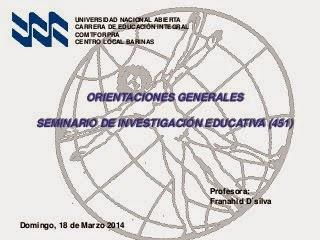 Material complementario para Seminario de Investigación Educativa