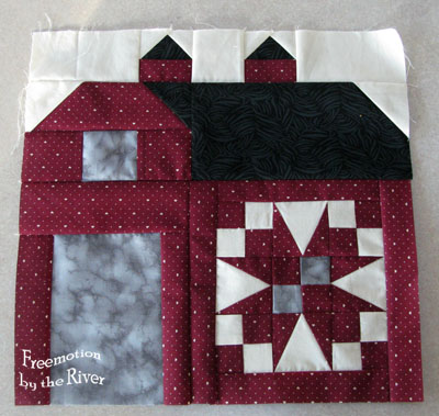 Quilty Barn Along at Freemotion by the River block 2