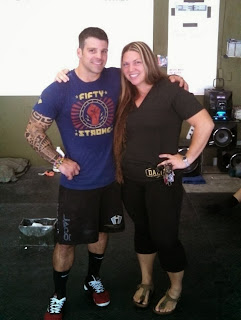 Rob Orlando and me before the Crossfit Strongman Competition