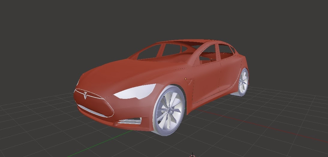 front view of the tesla s model