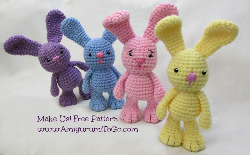 Amigurumi To Go Easter Egg Bunny : Little Bigfoot Bunny Revised 2014 Amigurumi Video Tutorial ...