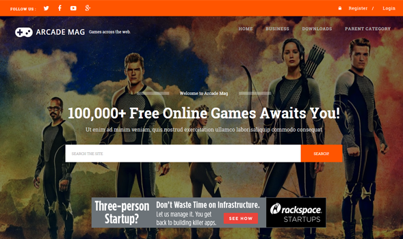 Arcade Mag Gaming Blogger Template