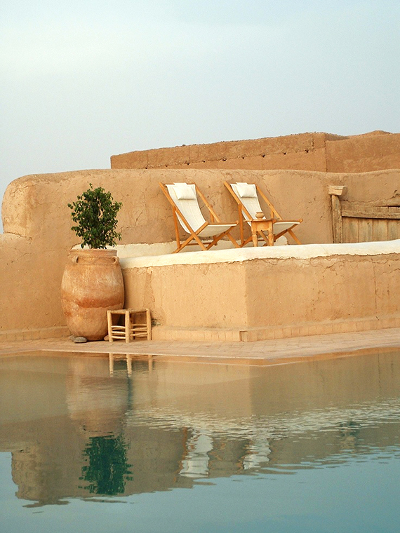 Pool at Tigmi hotel in Marrakech Morocco