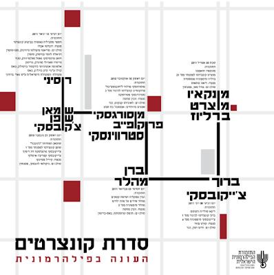 כרזה לתזמורת הפילהרמונית הישראלית