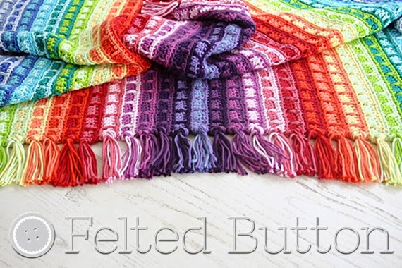 Color Reel Blanket Crochet Pattern by Susan Carlson of Felted Button