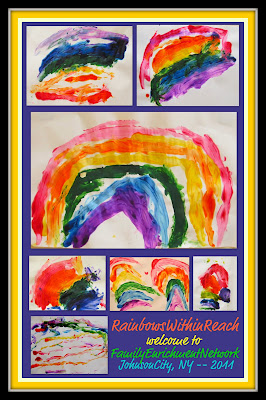 photo of: rainbows paintings for preschool