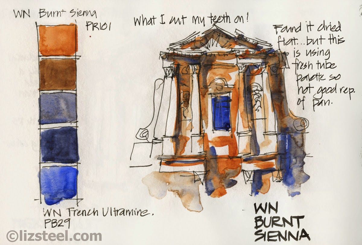 Exploring The Mix Burnt Sienna And Ultramarine