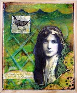 mixed media, vintage image