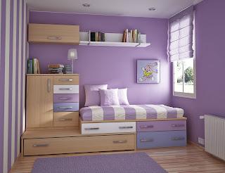 Camera da letto in lilla immagine