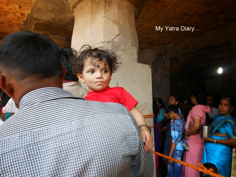A young devotee at the Jogeshwari caves during Shravan, Mumbai