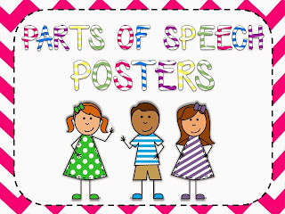 http://www.teacherspayteachers.com/Product/Chevron-Parts-of-Speech-Posters-780585