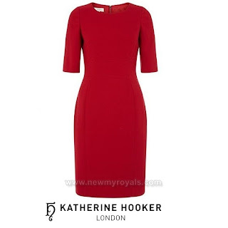 Kate Middleton - KATHERINE HOOKER Ascot Red Dress