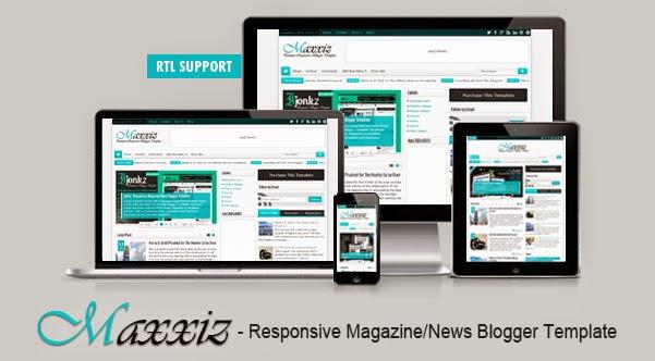 Maxxiz Responsive Blogger Template