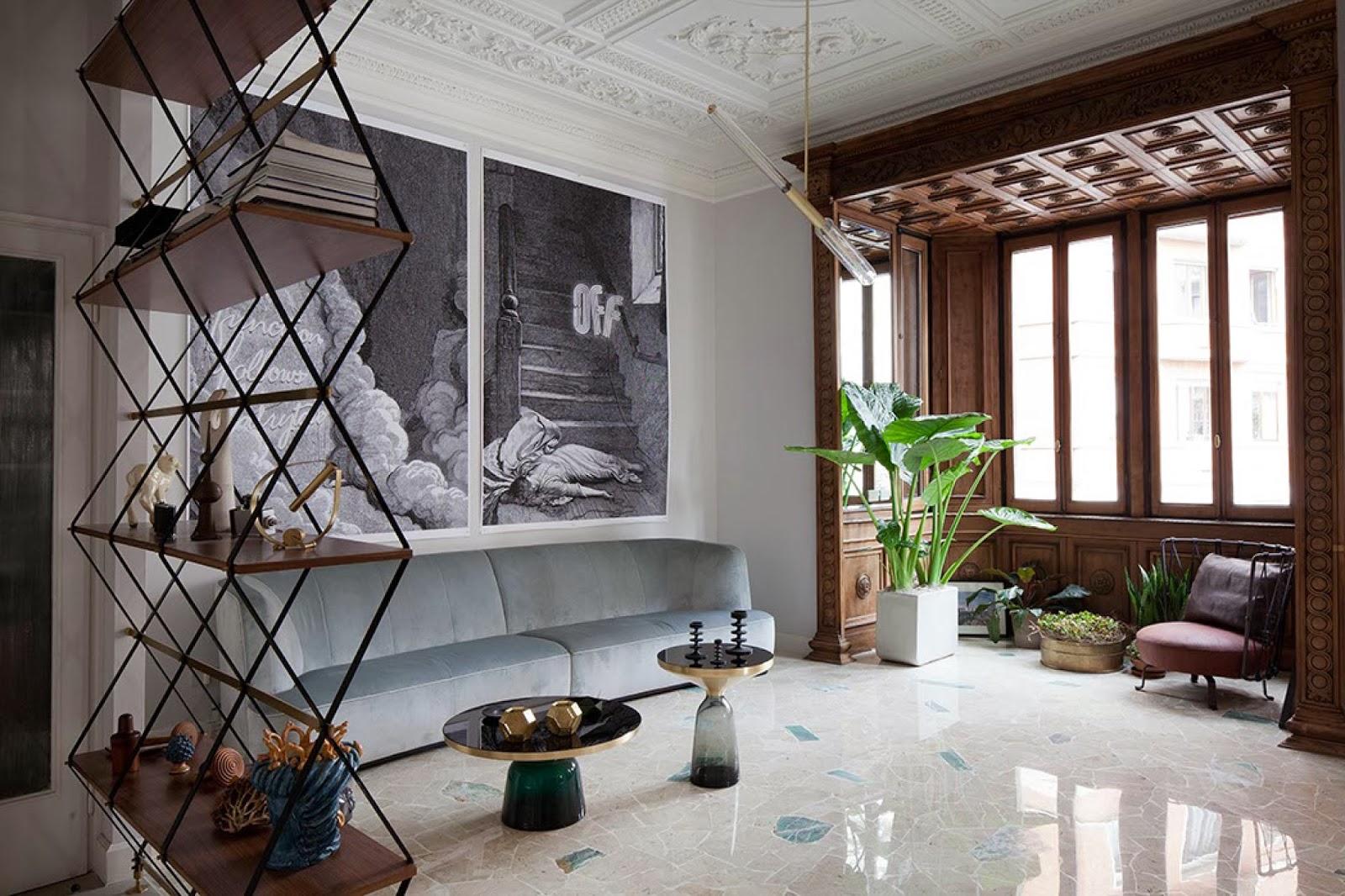 Interior design by pietro russo casa adriano e silvia for Interior design agency milano