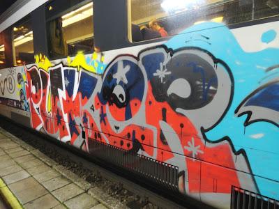 Puker graffiti