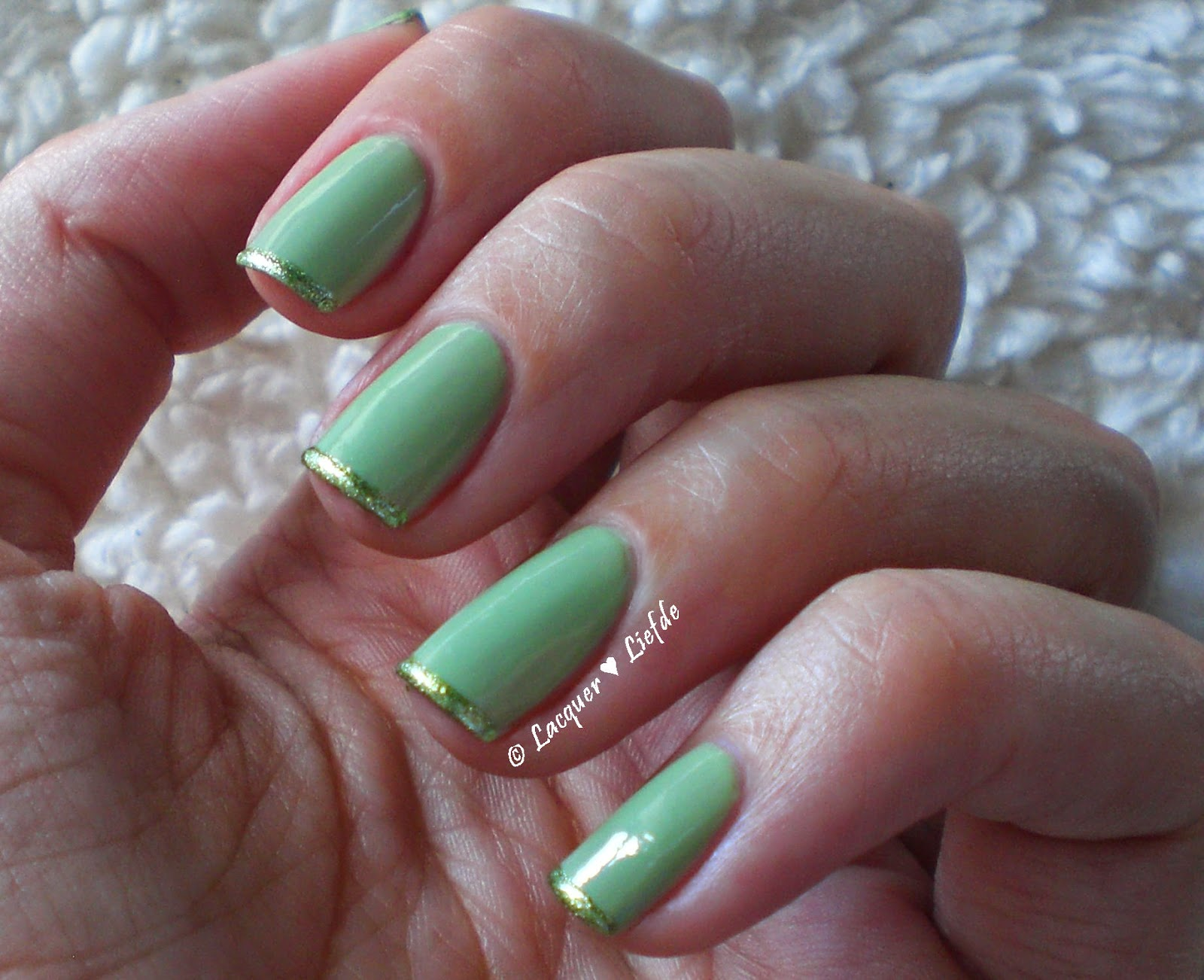 Orly - Coachella Dweller with Models Own - Green Flash