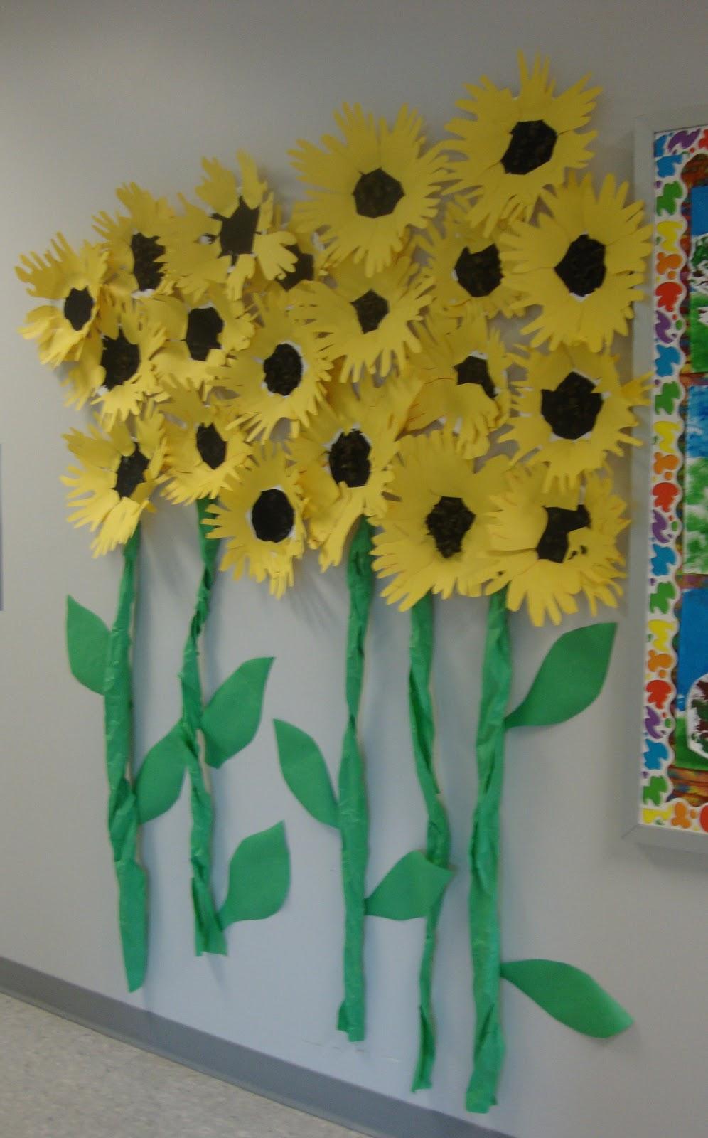 Paper Plates (one for each child) - Black Tempera Paint - Paintbrushes - Brown Tissue Paper - Yellow Construction Paper - Scissors & Art. Paper. Scissors. Glue!: Sunflowers and Sculptures