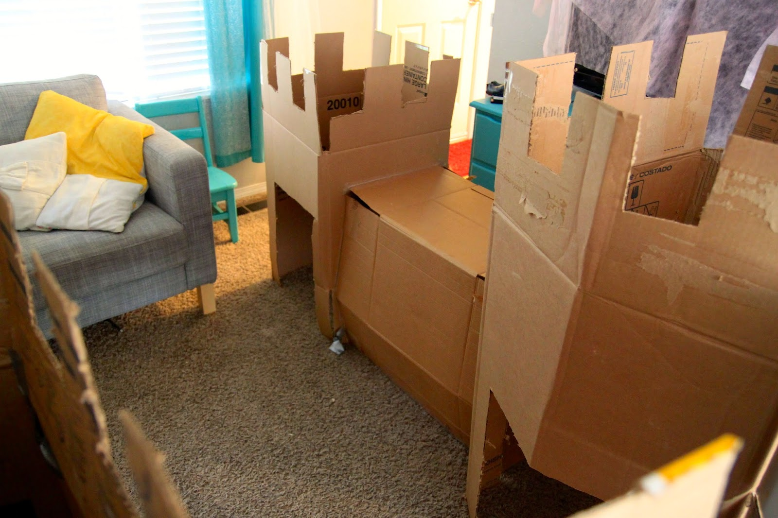 Watch out for the woestmans diy cardboard box castle for How to make a letterbox out of cardboard