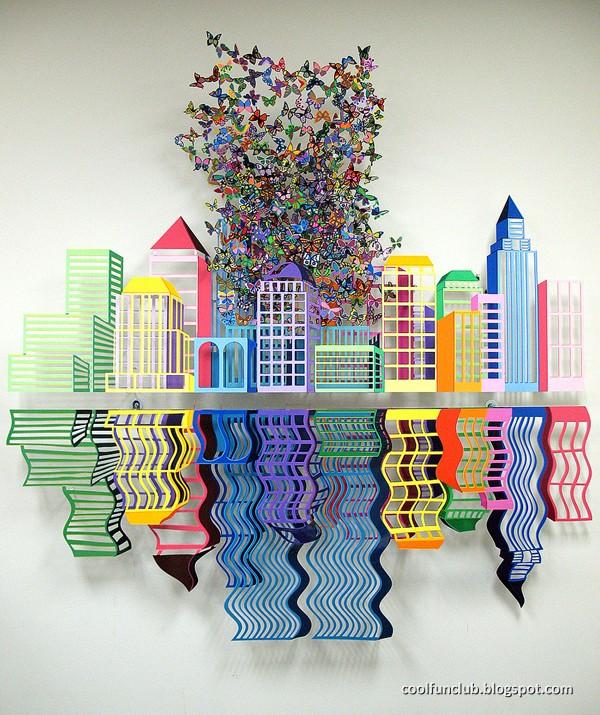 coolfunclub metal sculptures by david kracov. Black Bedroom Furniture Sets. Home Design Ideas