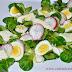 Salata cu valeriana si oua de prepelita