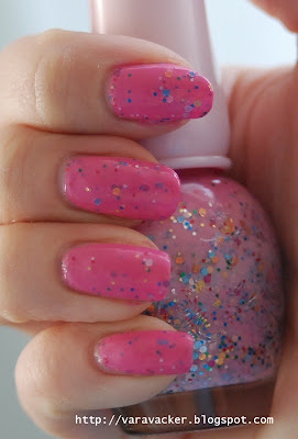naglar, nails, nagellack, nail polish, etude, rosa, pink, glitter
