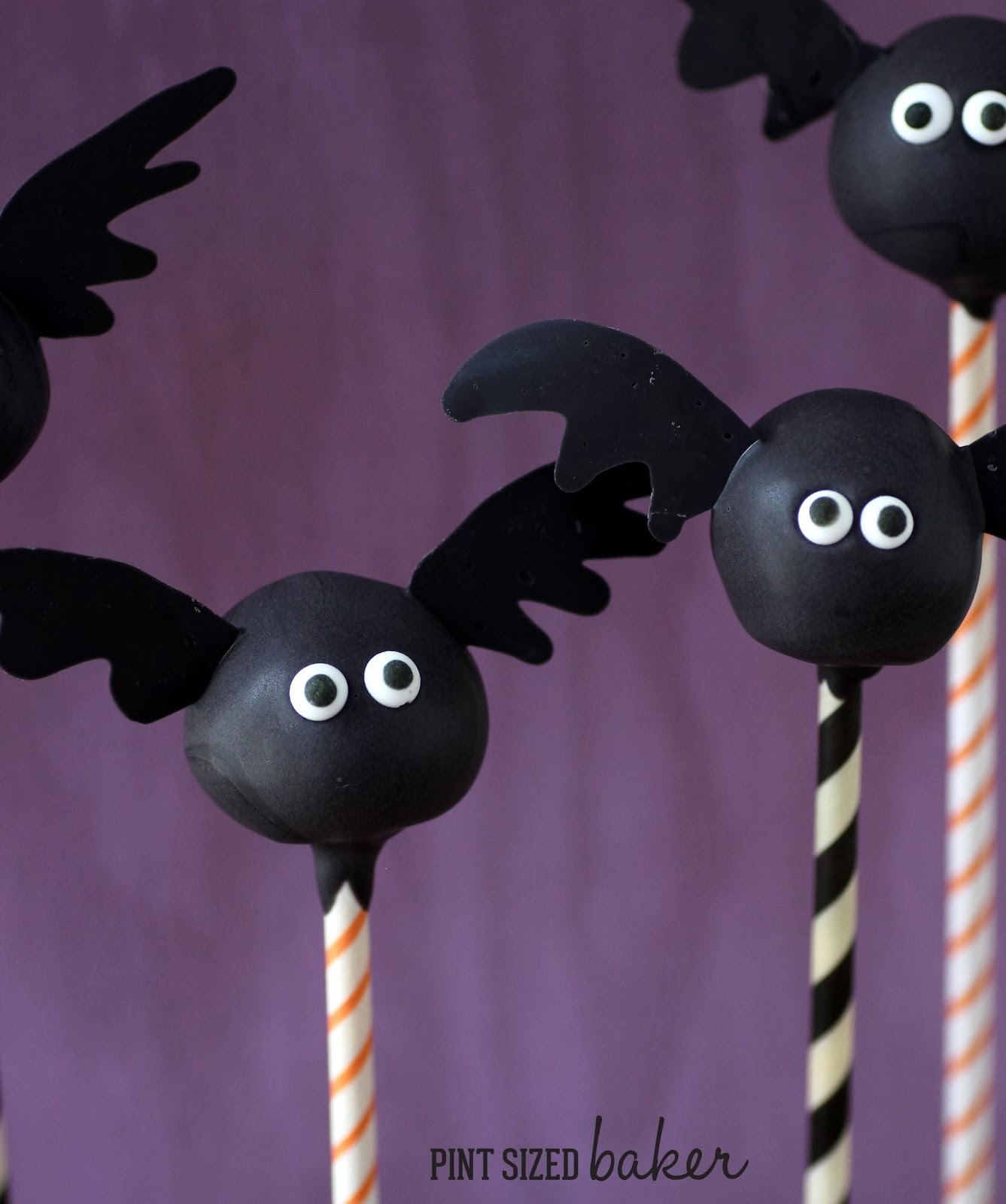 bat cake pops - pint sized baker