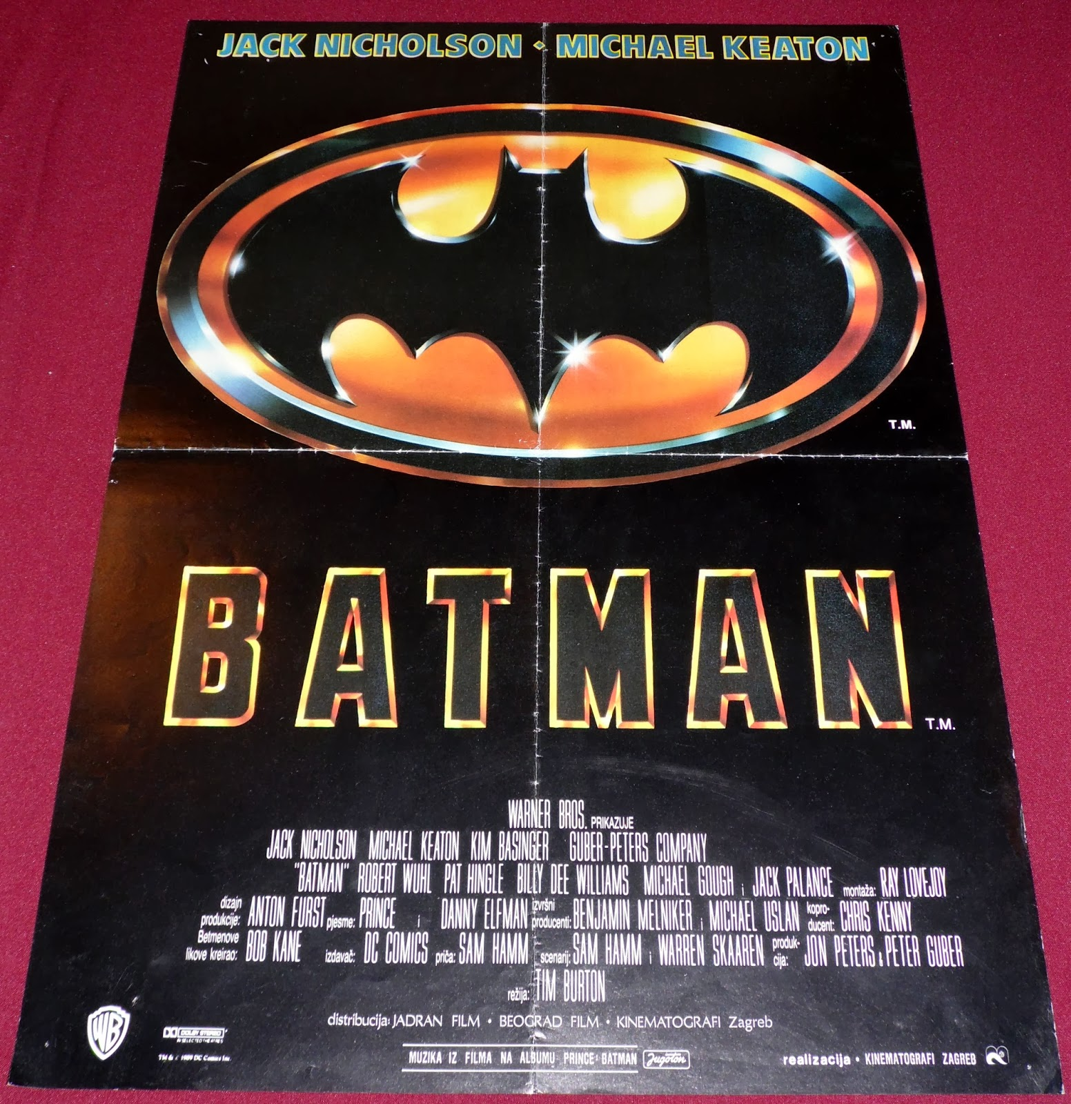 YugoRare Movie Posters: Batman (1989)