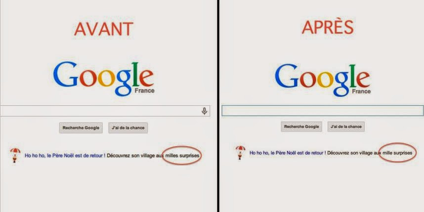 Google s'offre une belle faute d'orthographe sur sa page d'accueil