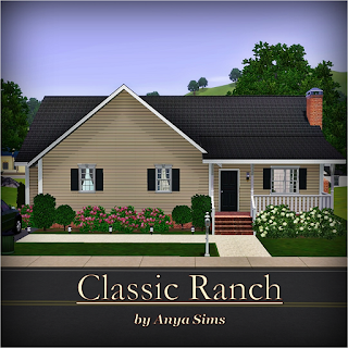 Anya sims home design classic ranch for Classic ranch homes