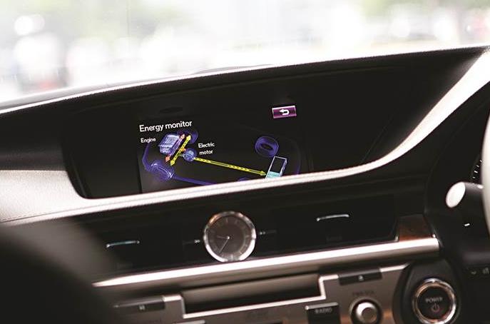 Lexus electric car model dashboard
