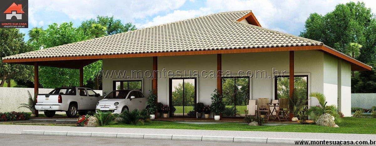 Projeto de casa com 5 quartos e churrasqueira for Fachada casa campo