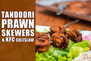 How to make Tandoori prawn skewers and KFC colslaw