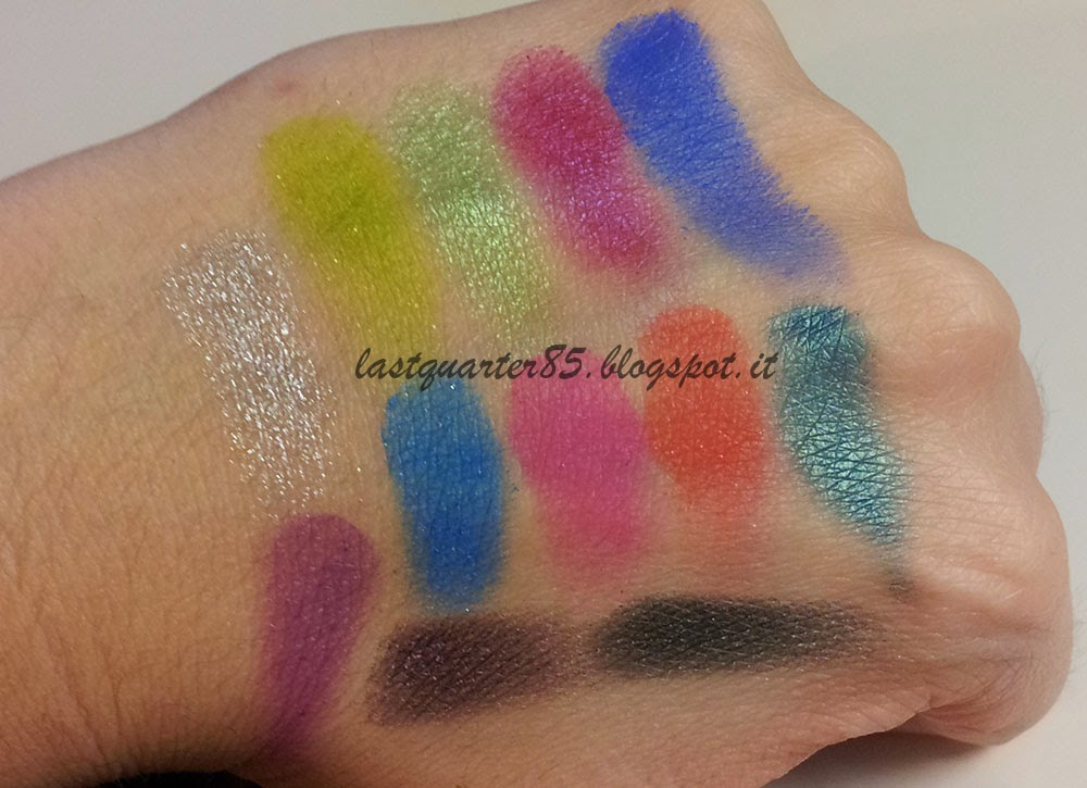 Swatch Makeup Revolution Colour Chaos Palette!
