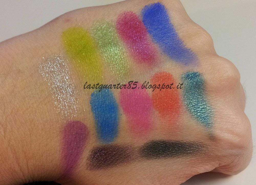 Swatch Makeup Revolution Colour Chaos Palette!
