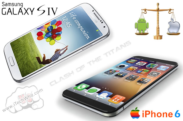 Apple iPhone 6 vs Galaxy S4 Samsung in 2013: Release Dates, Features, Price