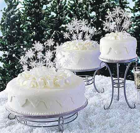 christmas wedding decorations Christmas wedding cake