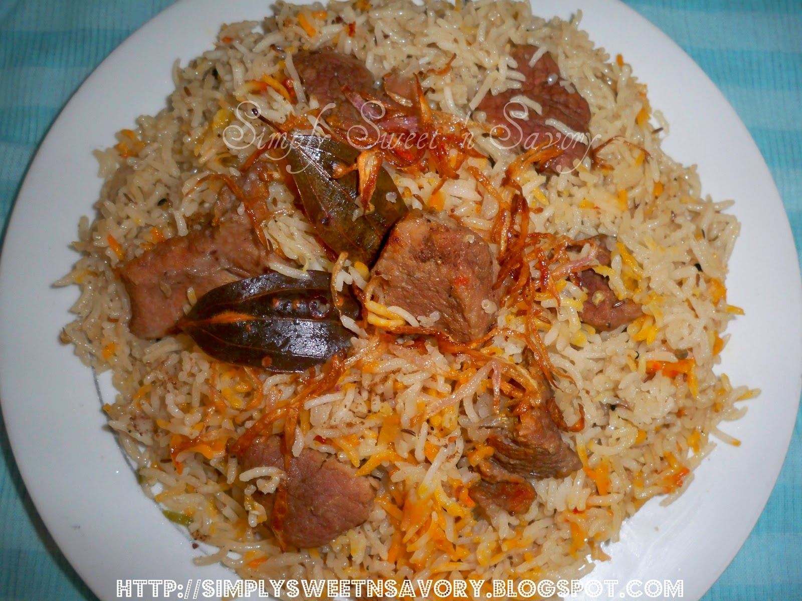 Simply Sweet 'n Savory: Mutton Yakhni Pulao (Mutton Pilaf)