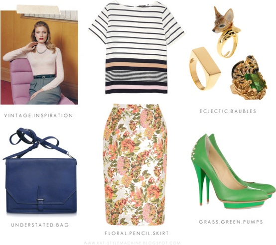 How to Mix Florals and Stripes for the Office