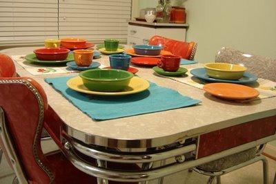 Decoraci n de interiores cocinas con estilo retro - Vajillas de cocina ...