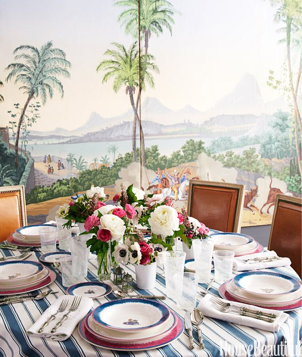 Chinoiserie chic sunday inspiration setting the for Casual dinner table setting ideas