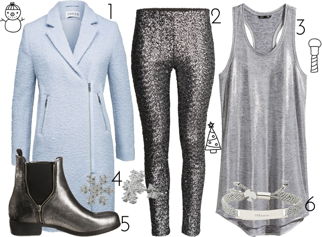 ootd inspiration winter look ice rink baby blue coat silver sequins