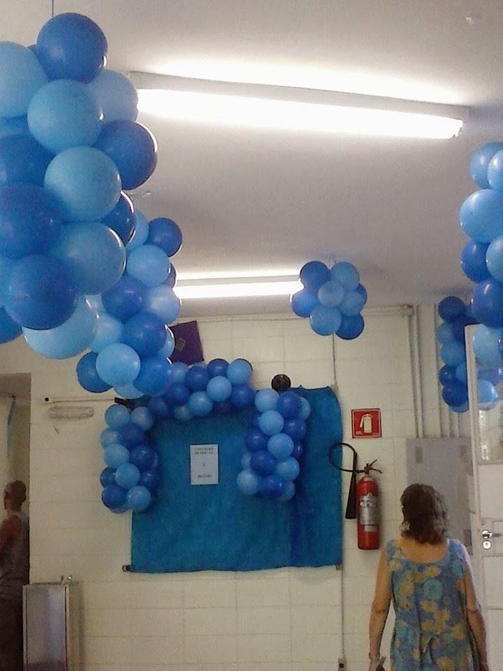 Vulcon eventos Decoraç u00e3o Novembro Azul UBS Jd Ayrosa II -> Decoração Para Outubro Rosa E Novembro Azul