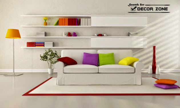 Modern Living Room Decorating Ideas Colorful Cushions