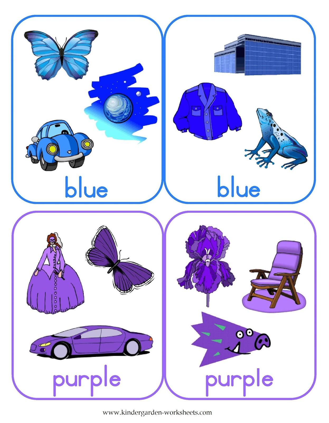 kindergarten worksheets flashcards color cards