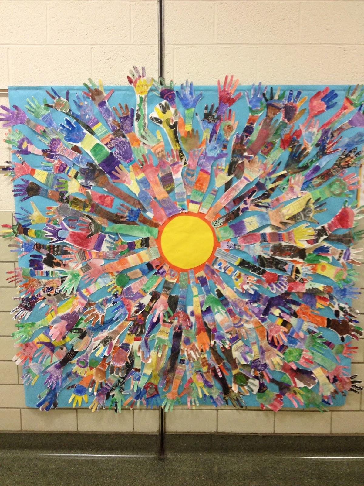 Art Line Quality : Splats scraps and glue blobs hands up for creativity a